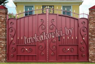 Ворота Боярские-ПШ со встроенной калиткой