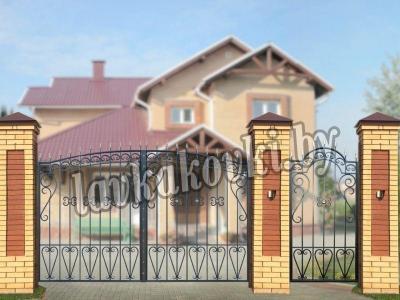 """Ворота """"Узорные эконом"""""""