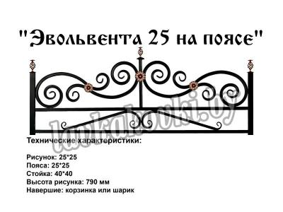 """Ограда """"Эвольвента 25 на поясе"""""""