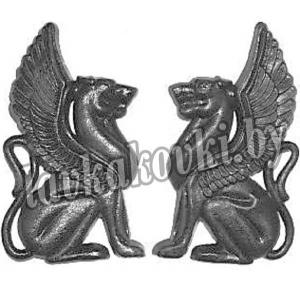 Лев крылатый (пара) литой 6303