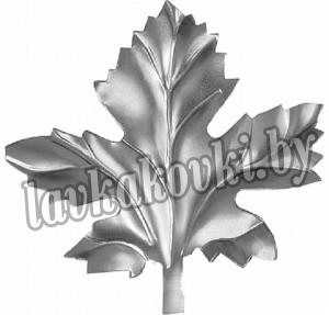 Лист виногр. 80*80*1мм штамп, 12-7424