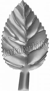 Лист березы 85*44*1 мм штамп, 12-7426