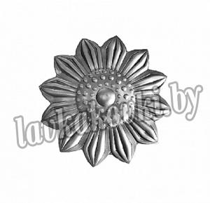Цветок Ø55 1,5 мм штамп, 12-7436