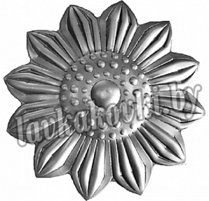 Цветок Ø100 1,5 мм штамп, 12-7438
