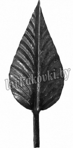 Лист розы кованый 155*55*2 мм, 1395
