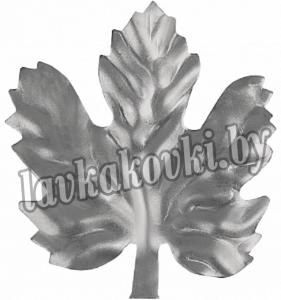 Лист виногр. 55*50*1,5 мм штамп, 14.040.02