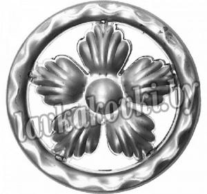 Накладка кольцо с цветком Ø120*1 мм, штамп, 13100.02