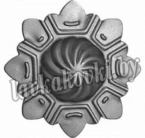 Накладка черепашка звезда 89*12*1 мм, штамп