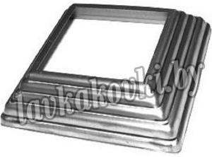 Подпятник 142*142 мм, отв. квадрат 100 мм, штамп, 13.310.01