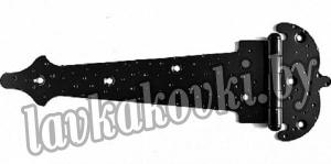 Задвижка дверная (черная матовая), ЗД-110-ПР
