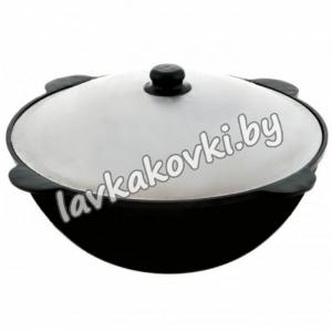 Казан узбекский , плоское дно, шлифованный.