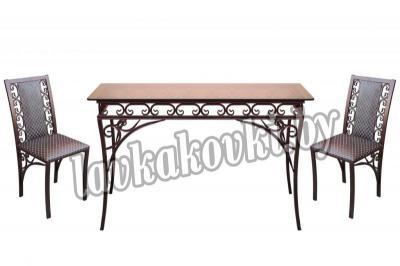 """Композиция стол """"Леон"""" со стульями"""