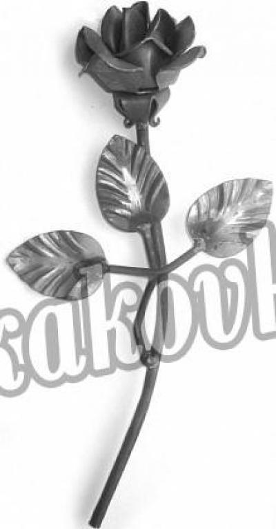 Роза 260мм с листочками (штамп)